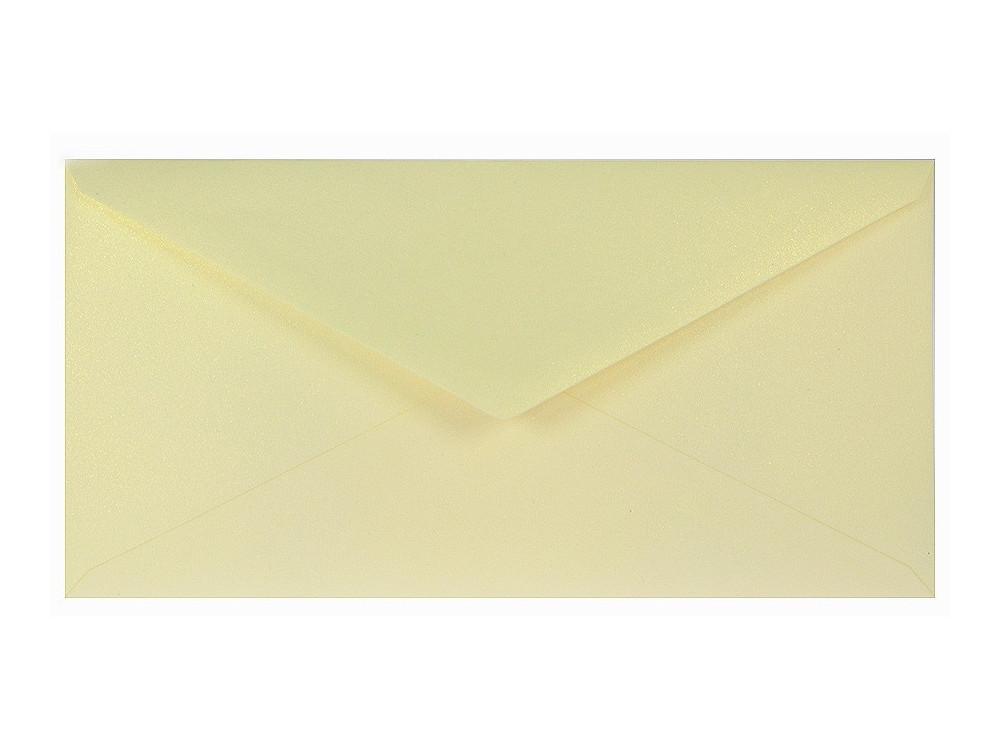 Koperta perłowa Sirio 110g - DL, Merida Cream, kremowa