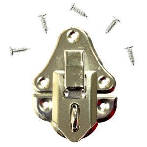 Zapięcie metalowe, srebrne - 29 x 32 mm