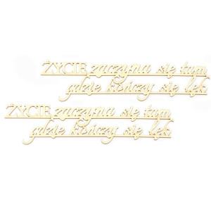 Ozdoby tekturowe - Life always offers you, 2 szt.