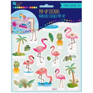 Naklejki stojące Pop-Up - Flamingi, 20 szt.