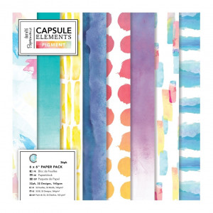 Paper Pack 15x15 - Papermania - Elements Pigment, 36 Pk