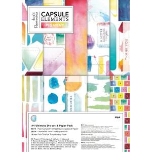 Zestaw papierów i elementów ozdobnych A4 Capsule - Elements Pigment
