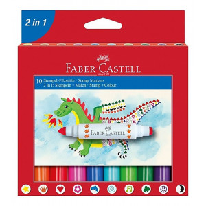 Pen-stamps, 5 colors - Faber-Castell