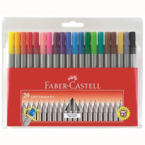 Cienkopisy Grip, 10 kolorów w etui - Faber-Castell