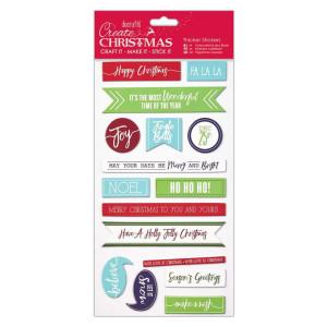 Naklejki wypukłe - Papermania - Christmas Words