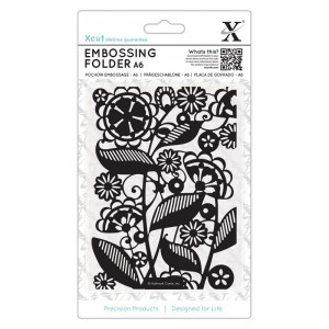 Folder do embosingu A6 - X-cut - Sweeping Florals