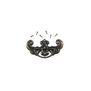Uchwyt metalowy, brązowy - 62 x 34 mm