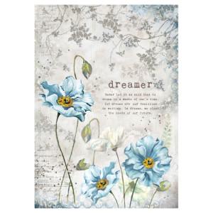 Papier ryżowy A4 Stamperia - Blue stars - Wróżka Just Like