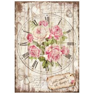Papier ryżowy A4 Stamperia - Sweet Time - Róża duża