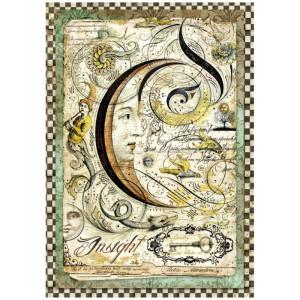 Papier ryżowy A4 Stamperia - Alchemy - Słońce