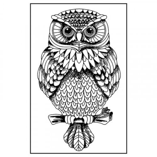Stempel kauczukowy 7x11 Stamperia - Sowa