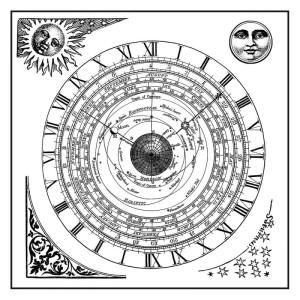 Stempel kauczukowy Stamperia 10x10 Alchemy - Słońce