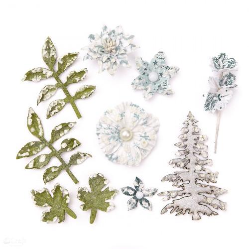 Kwiaty papierowe - Mix, 10 szt.