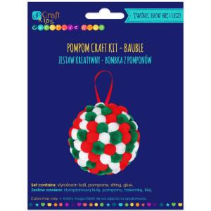 Zestaw kreatywny - Bombka z pomponów, mix kolorów