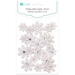Kwiaty papierowe, 40 szt. White
