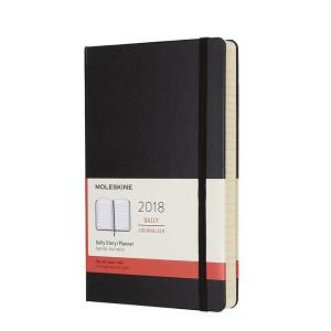 Kalendarz Moleskine 2018 Daily Hard Black Large