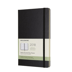 Kalendarz Moleskine 2018 Weekly Horizontal Large Hard