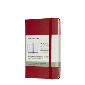 Kalendarz Moleskine 2018 Weekly Horizontal Pocket