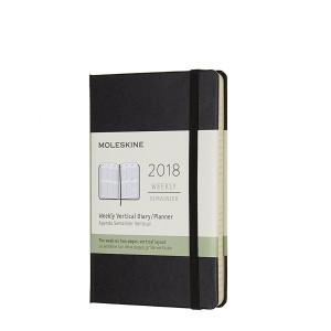 Kalendarz Moleskine 2018 Weekly Vertical Pocket