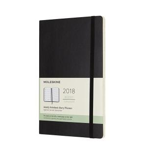 Weekly Planner 2018 Soft Black Large Moleskine