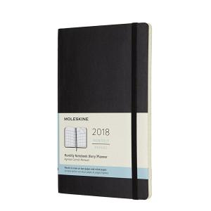 Kalendarz Moleskine 2018 Monthly Black Soft Large