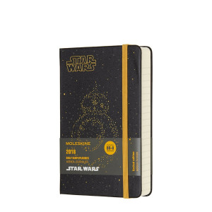 Kalendarz Moleskine 2018 Star Wars Daily Pocket Black