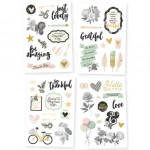 Naklejki litery i liczby - SNAP Basics Collection - Simple Stories