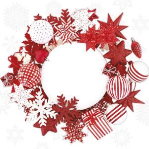 Serwetki ozdobne świąteczne 20 szt. NORDIC WREATH