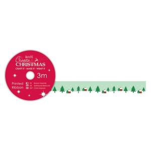 Tasiemka z nadrukiem - Papermania - Red Snowflakes