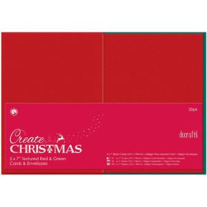Zestaw kopert i kart kwadratowe Papermania - Czerwono-Zielone, 50 szt.
