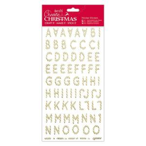 Naklejki świąteczne z brokatem - Papermania - Christmas Trees