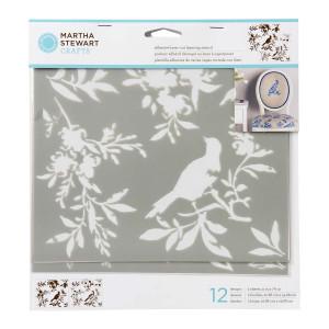 Szablony samoprzylepne 19,6 x 22,9 cm - Butterflies and Bees - Martha Stewart