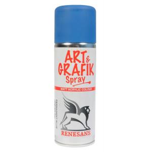 Farba akrylowa w sprayu Renesans 200 ml błękit permanentny