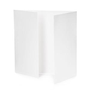 Zestaw kart i kopert z okienkiem, 13,5 x 13,5 cm - Białe