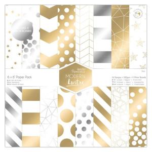 Zestaw papierów 30x30 cm - Papermania - Modern lustre, 36 szt.