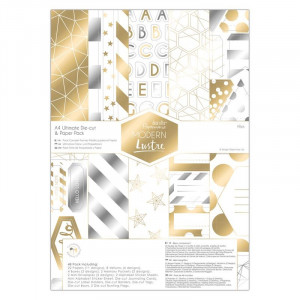 Zestaw papierów 15x15 cm - Papermania - Modern lustre, 36 szt.