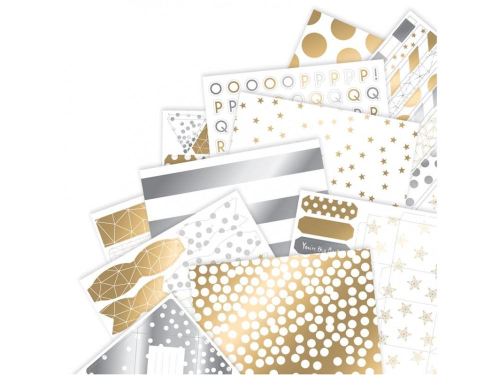 silver glitter 15 die cut keys