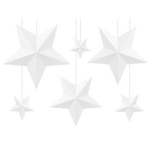 Zawieszki dekoracyjne Serca kraft , 2 rozmiary 6 szt.