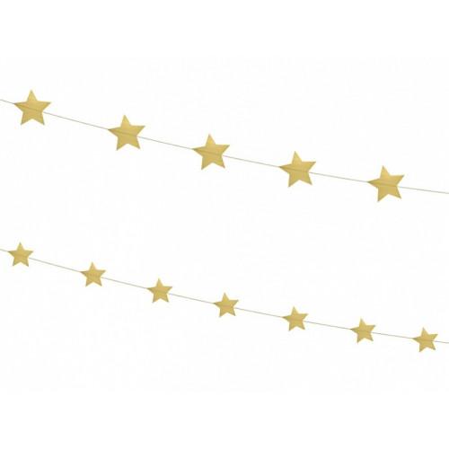 Garland Stars, gold, 2 pcs