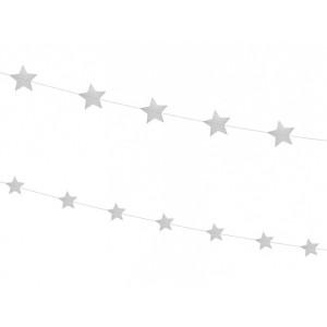 Girlanda Gwiazdy, złota - 180 cm, 2 szt.