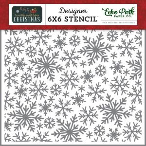 Szablon Echo Park - I Love Winter - Winter Snowflakes