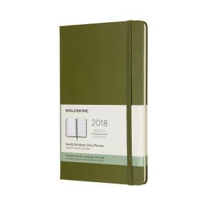 Kalendarz Moleskine 2018 Weekly Hard Olive Large