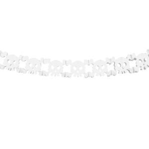 Girlanda ozdobna, bibułowa - Duszki, biała 3 m