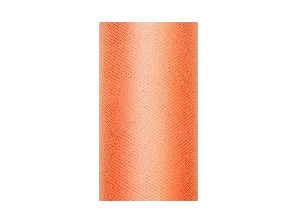 Tiul dekoracyjny 30 cm - pomarańczowy, 9 m
