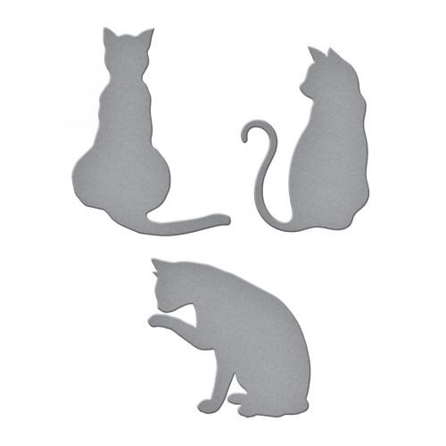 Zestaw wykrojników Spellbinders - D-Lites Kitty Cats