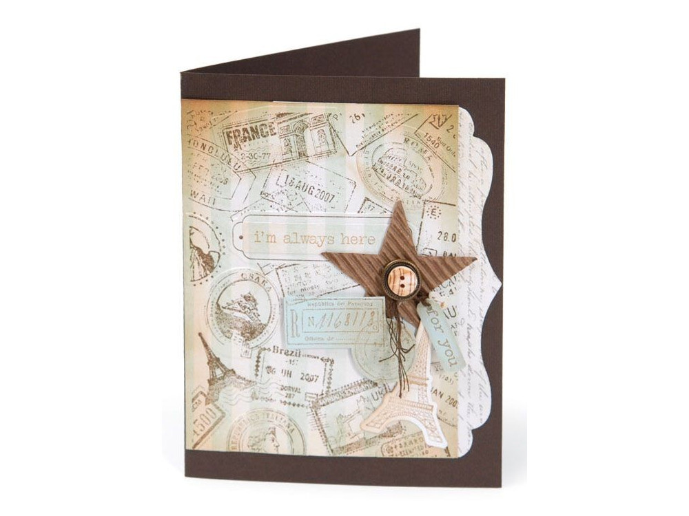 Sizzix Textured Impressions Embossing Folders 2PK - Postage & Frame