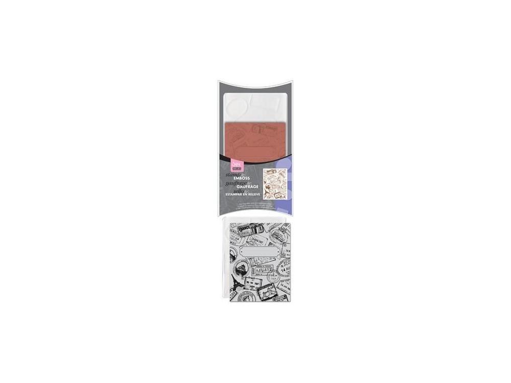 Folder do wytłaczania + stempel Textured Impressions - Sizzix - Postage & Frame