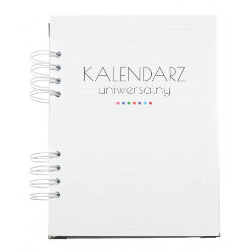 Kalendarz uniwersalny - tydzień na dwóch stronach - wkład