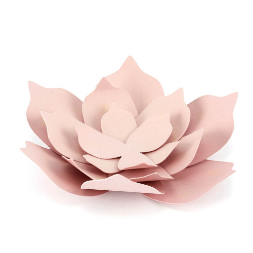Paper decorations Flowers, powder pink 3 pcs