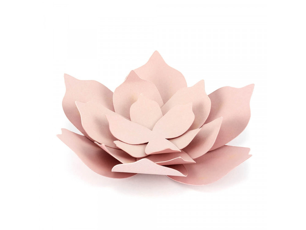 Paper decorative flowers - powder pink, 3 pcs.